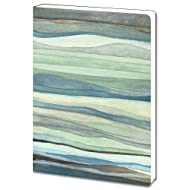 Tree-Free Greetings Recycled Soft Cover Journal, Ruled, 5.5 x 7.5 Inches, 160 Pages, Watercolor Waves Themed Shell Rummel Art (88479)