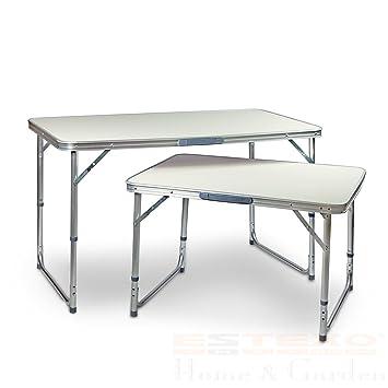 Estexo Aluminium Campingtisch Klapptisch Gartentisch Picknicktisch