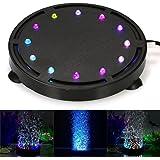 Decdeal LED Luz del Acuario,Luz Sumergible de la Burbuja Colorida,Decoración para el
