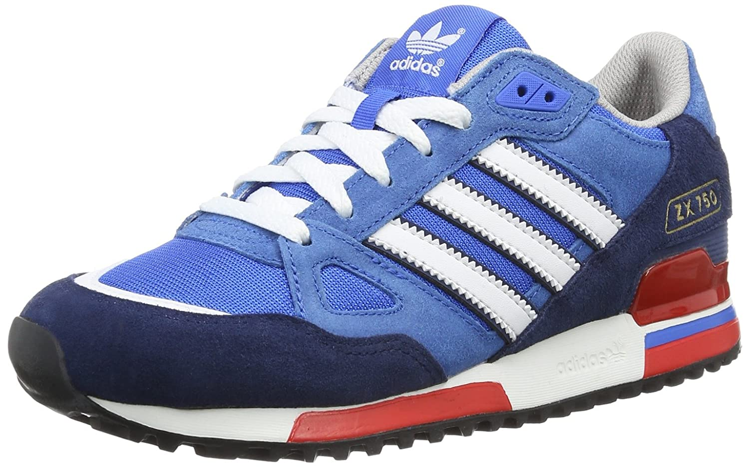 959ccca196139 adidas Originals Men s ZX 750 trainers navy white red G96718  UK 6    Amazon.co.uk  Shoes   Bags