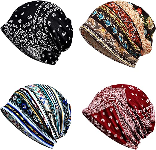 Beanie Hat Headwear Women Men Head Wrap Hairband Neck Gaiter
