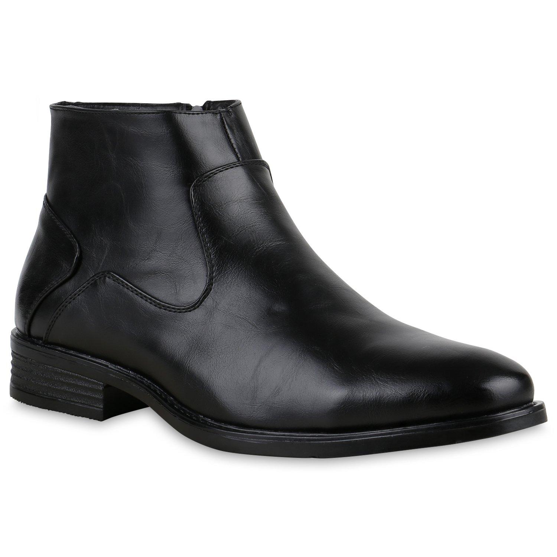 Stiefelparadies Hombre Botas 127366 Negro 44 Flandell