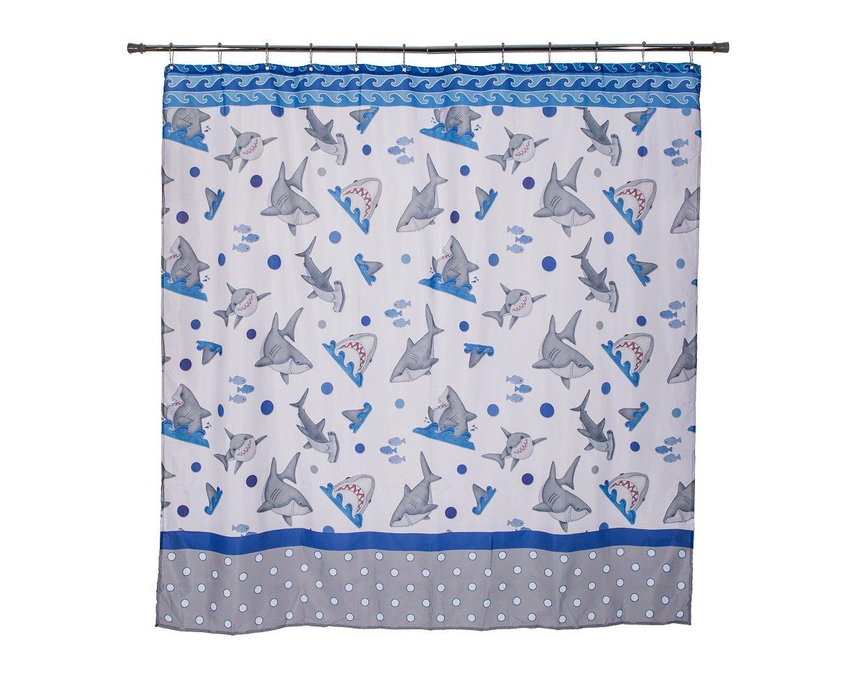 Borders Unlimited Fish 'N Sharks-Mini Polka Dot Shower Curtain