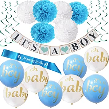 amazon com baby shower party decorations kit 22 pieces it s a boy