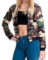 Women Bomber Jacket 3D Printed Camouflage Chaquetas Mujer Outwear Long Sleeve Casual Coats Basic Jackets