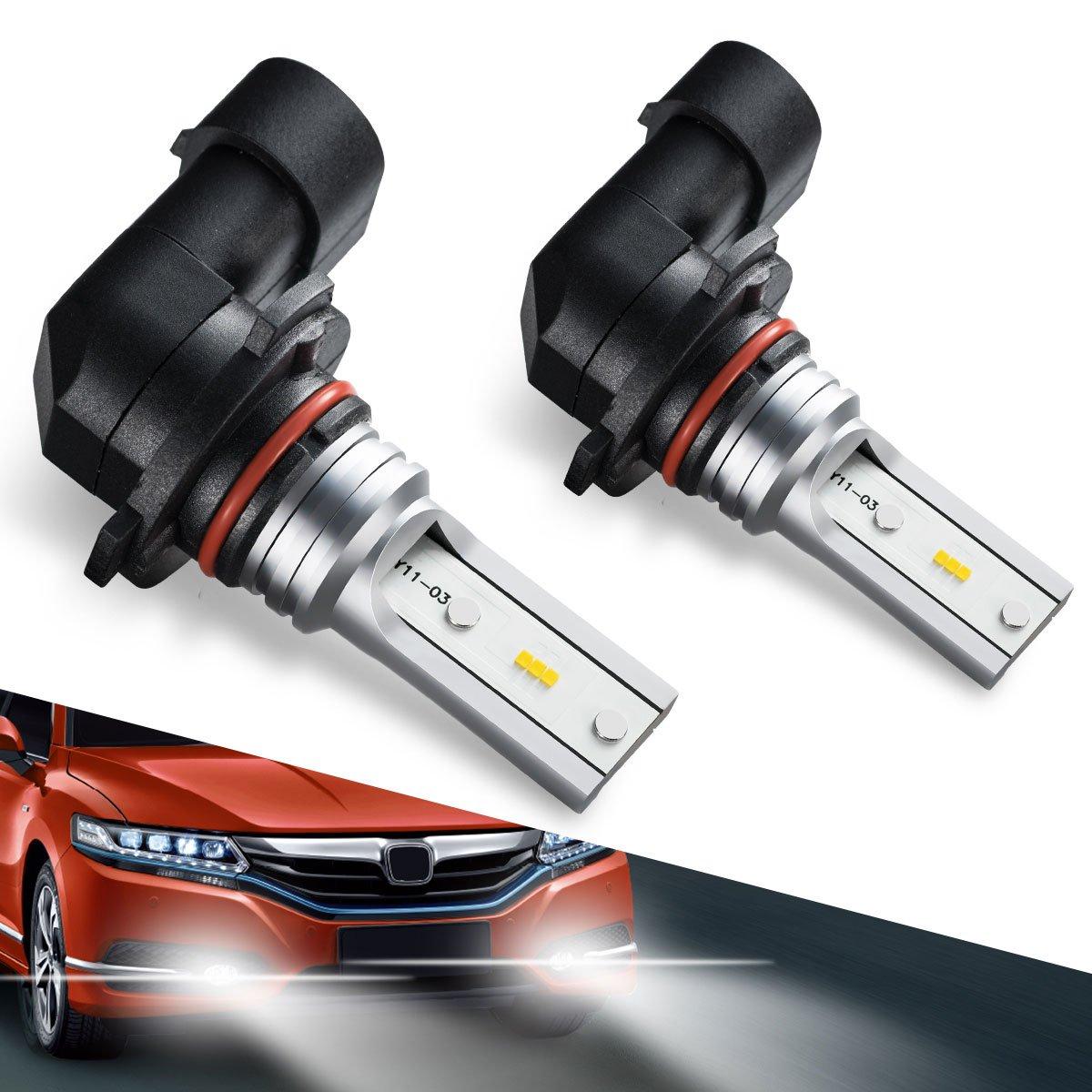 5202 5201 LED Fog Light Bulbs, PS19W CSP High Power LED Fog Lamps Bulbs for DRL or Fog Lights Xenon White Marsauto