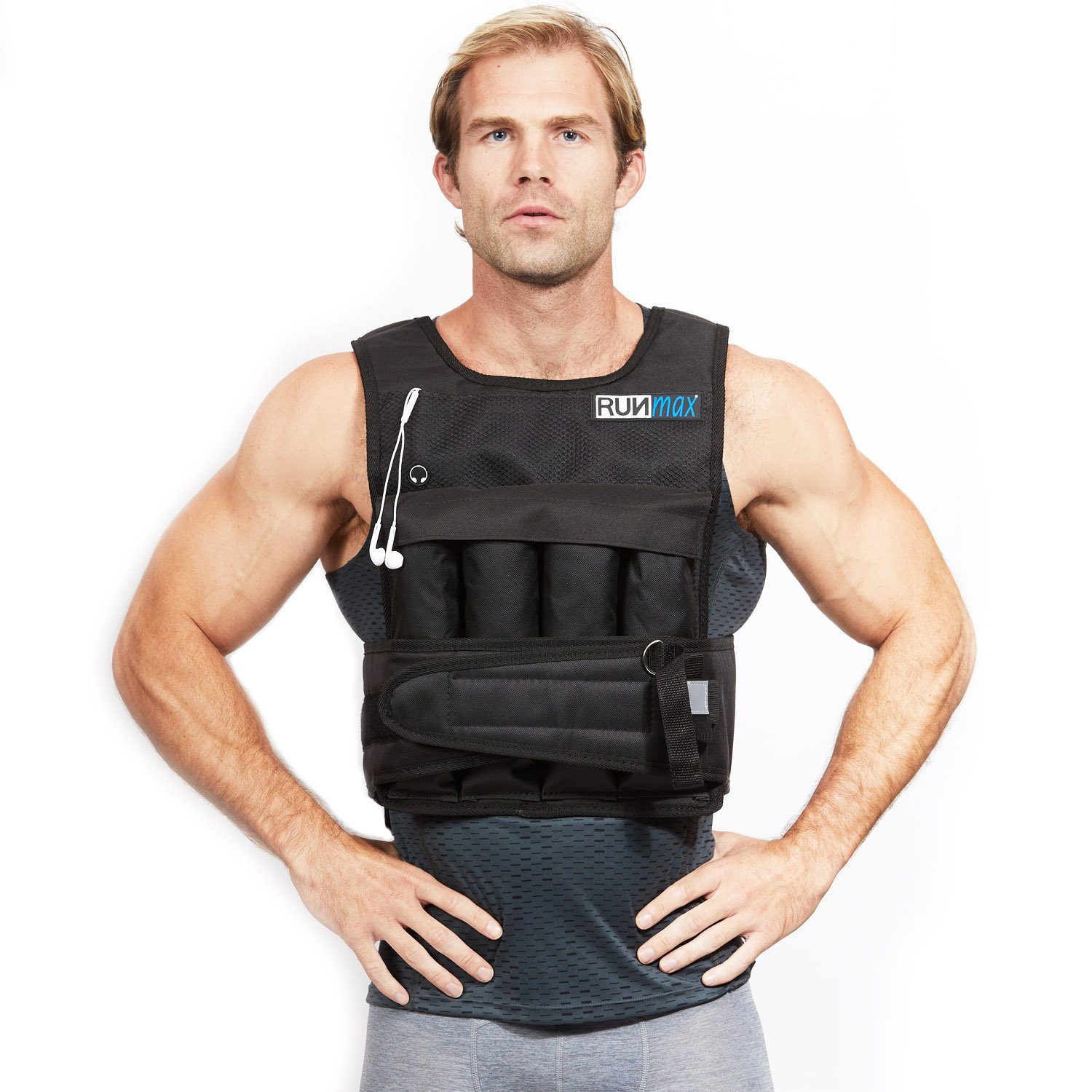 RUNmax RUNFast RM_20 Pro Weighted Vest, 20 lb. by RUNmax (Image #2)