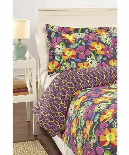 Amazoncom Vera Bradley Reversible Comforter Set Twinxl Jazzy