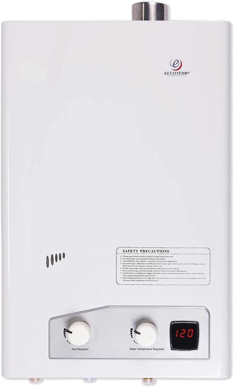 Eccotemp fvi12-NG FVI-12 Natural Gas, 3.5 GPM, High Capacity Tankless Water Heater, White
