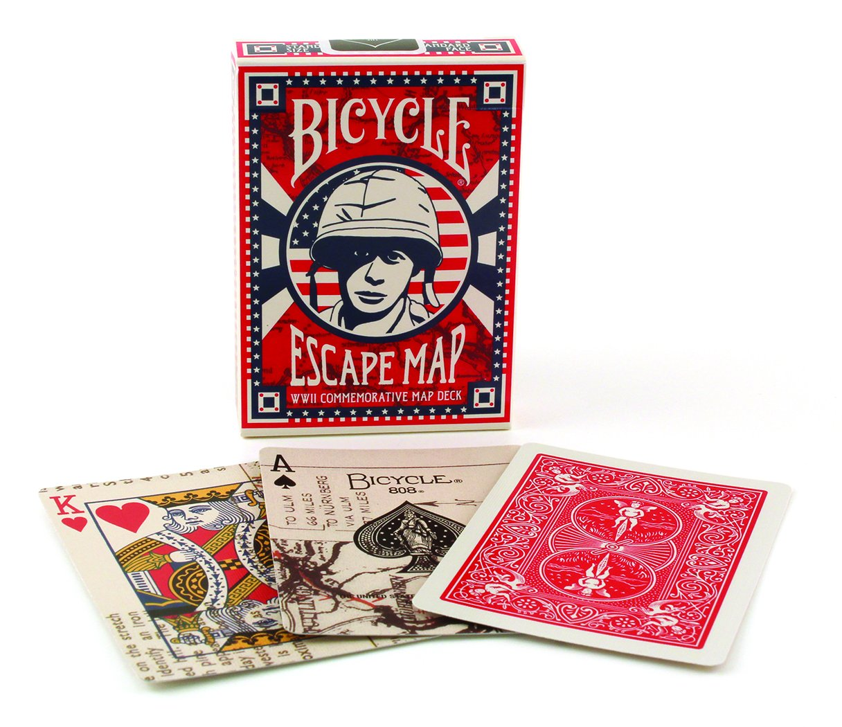 Bicycle WWII Escape Playing Cards a WW2 Commemorative Map Deck Bicicleta jugando a las cartas