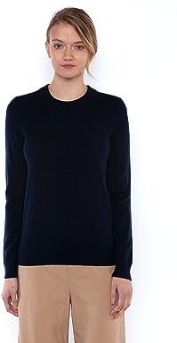 0588682e67c JENNIE LIU J CASHMERE Women s 100% Cashmere Long Sleeve Pullover Crew Neck  Sweater