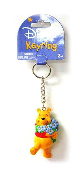Oso Winnie the Pooh Winny de Puh Hugging Flowers Llavero ...