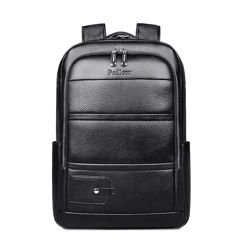 本革 メンズ リュックサック 牛革 レザー 14PC A4対応 黒 2WAY ディパック バックパック 通勤 通学 アウトドア 鞄 B06XFG78H7