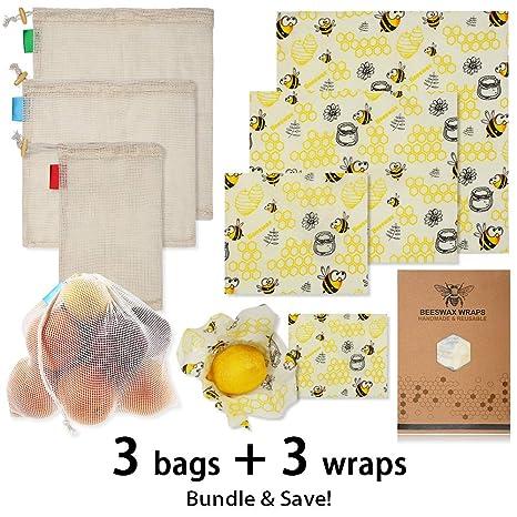 Amazon.com: Envoltorio de alimentos de cera de abeja para ...