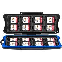 Boîtier de jeux pour Nintendo Switch, Keten housse de carte pour jeux Switch Etanche support Antichoc housse de carte mémoire SD, 32 Slots pour 16 pièces de cartes de jeu pour Switch 16 cartes Micro SD