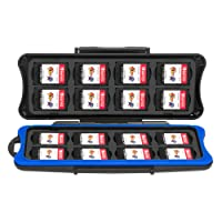 Nintendo Switch Games Case, Keten Switch Games Card Case Waterproof Anti-shock Holder Storage SD Memory Card Carrying Case, 32 Slots for 16 Pieces Switch Game Cards and 16 Micro SD Cards