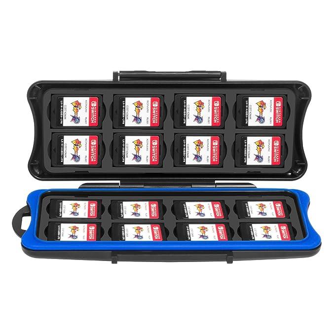 Estuche Para Cartuchos de Nintendo Switch, Funda de Juegos Switch de Keten Impermeable Antigolpes y Para Tarjetas de Memoria SD, 32 Ranuras para 16 ...
