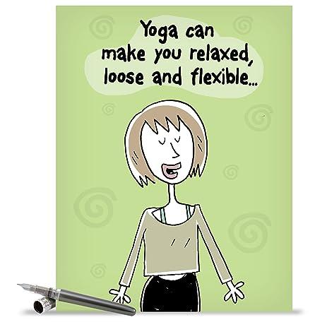 Amazon J1347 Jumbo Funny Birthday Card Benefits Of Yoga With