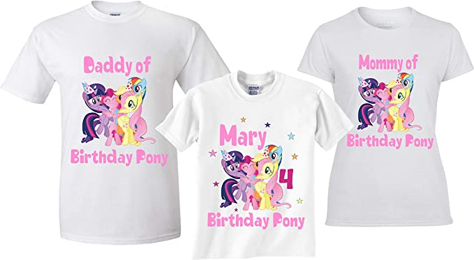 Girls My Little Pony Personalised t-shirt Birthday gift  any number any name