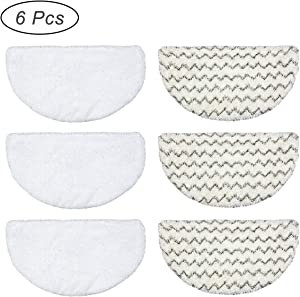GWGP 6 PCS Washable Reusable Steam Mop Replacement Pads for Bissell Powerfresh Steam Mop 1940 1440 1544 Series 19402 19404 19408 19409 1940a 1940f 1940q 1940t 1940w b0006 b0017