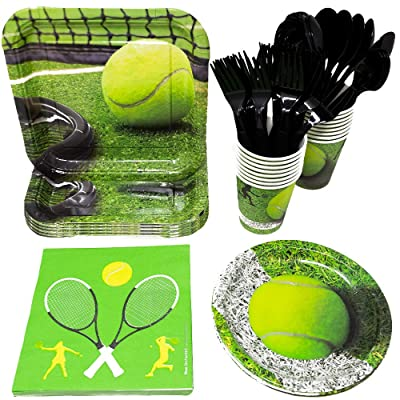 Tennis Party Supplies (113+ Pieces for 16 Guests!), Tennis Birthday, Sports Tableware and Table Decorations: Health & Personal Care [5Bkhe0302077]
