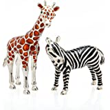 2 Piece Giraffe and Zebra Shaker Set