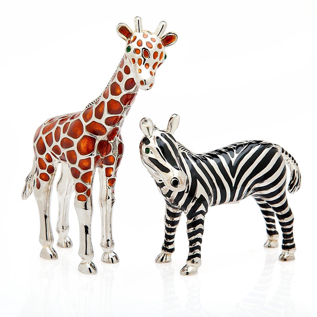 2 Piece Giraffe and Zebra Shaker Set