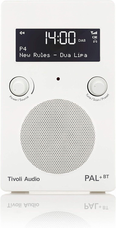 Tivoli Audio Pal Bt Tragbares Dab Dab Ukw Digitalradio Mit Drahtlose Bluetooth Technologie Hochglanz Weiß Weiß Heimkino Tv Video