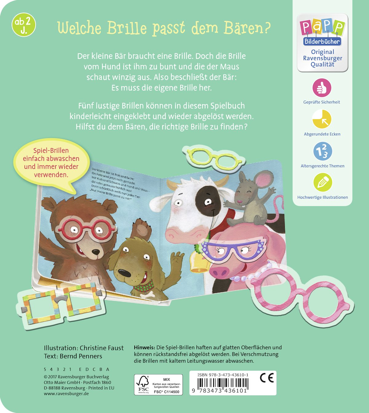 Der kleine Bär braucht eine Brille: mit 5 Spiel-Brillen: Amazon.co ...