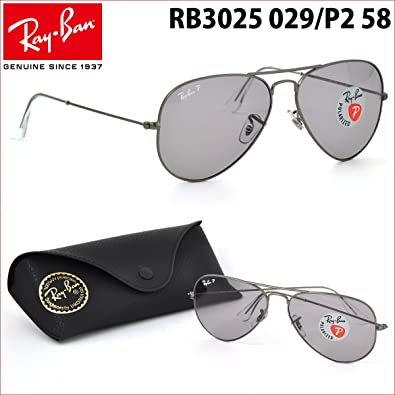 986327db29935 Ray-Ban Aviator Large Metal Polarised Unisex Sunglasses RB3025-029 P2-58   Amazon.co.uk  Shoes   Bags