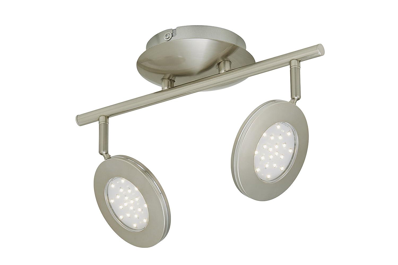 LED Deckenleuchte, Deckenstrahler, Spot, LED Platine, 3 x 4,5 Watt, 450 Lumen, Strahler dreh- und schwenkbar, matt-nickel [Energieklasse A+] Briloner Leuchten 2804-032