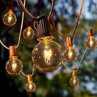 Albrillo Guirnalda Luces para Exteriores - 10M Cadena de Luz con 27 Bombillas G40 Blanca Cálida y 5 Repuestos…