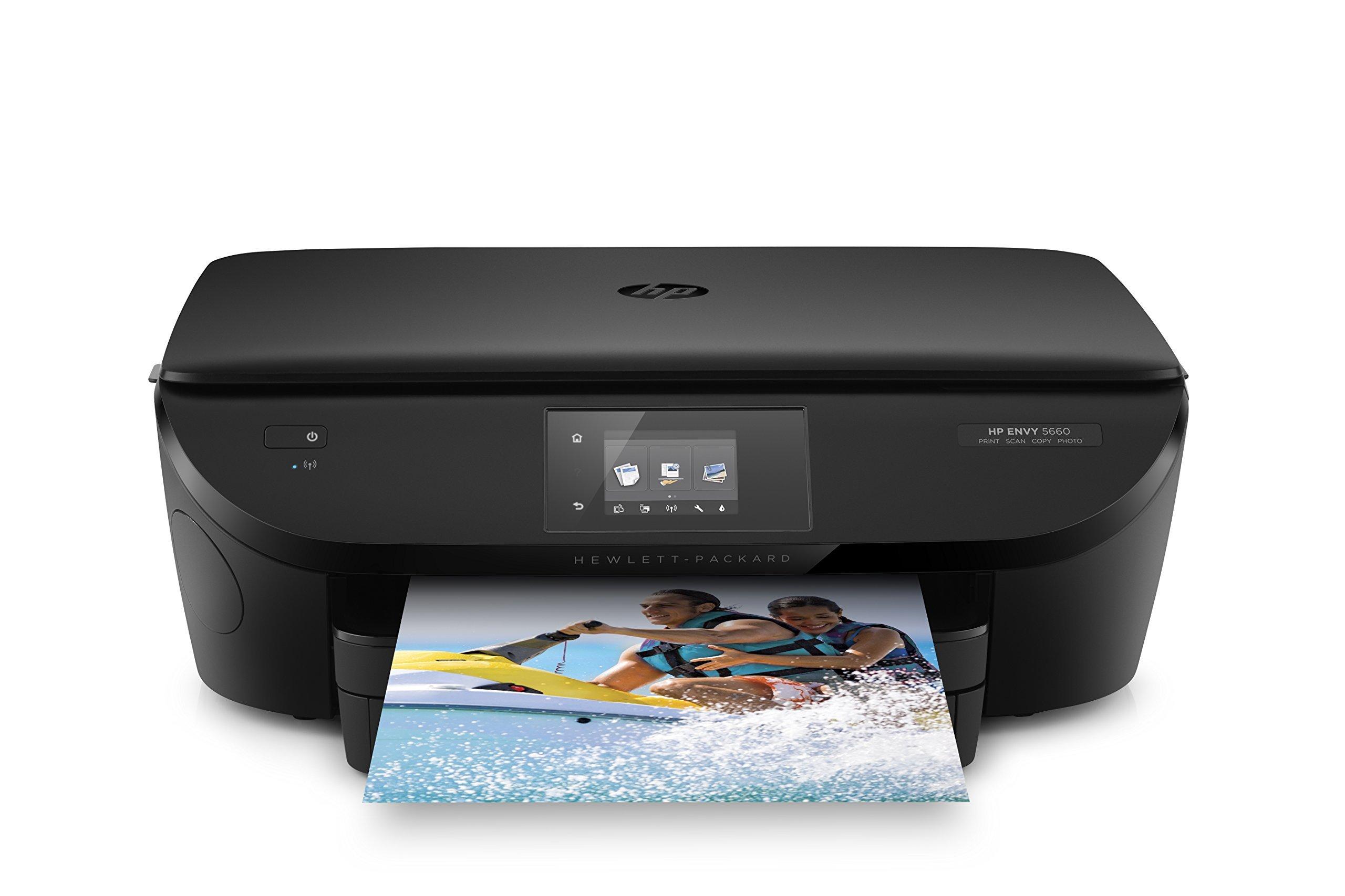 HP F8B04A ENVY 5660 e-All-in-One Printer, Black (Certified Refurbished)