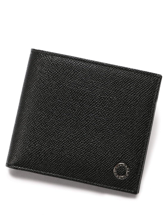 (ブルガリ) BVLGARI グレインカーフレザー 二つ折財布 [BLG30396] [並行輸入品] B07D7776QGブラック