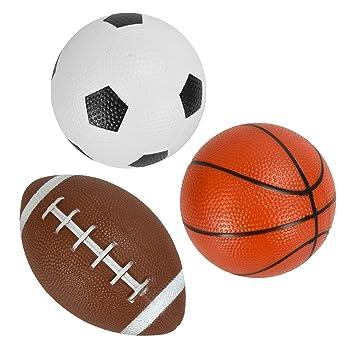 Trading Innovation 3 Mini Deportivo Esferas Fútbol Baloncesto Fútbol Americano Rugy Juguete Jardín Juegos: Amazon.es: Juguetes y juegos