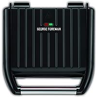 George Foreman GR25042AU, Family Steel Grill, Lock in Drip Tray, Black