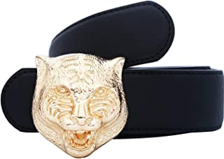 Adelina Cintura Uomo Fibbia Tigre 38Mm (1.49) Cintura Pelle Italiana Abbigliamento In Con Fibbia In Metallo E Cintura In Pelle