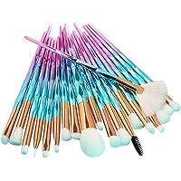 20 PCS Makeup Brushes Set Mermaid Diamond Color Foundation Eyeshadow Cosmetic Brush Blush Face Powder Eyeliner Brush