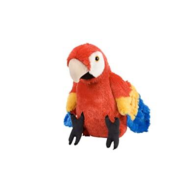 Wild Republic Scarlet Macaw Plush, Stuffed Animal, Plush Toy, Gifts for Kids, Cuddlekins 12 Inches: Toys & Games