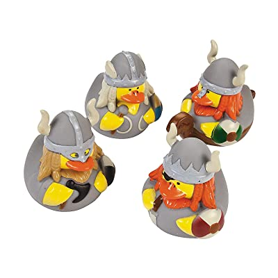 12 ct Viking Rubber Ducks by Fun Express: Toys & Games