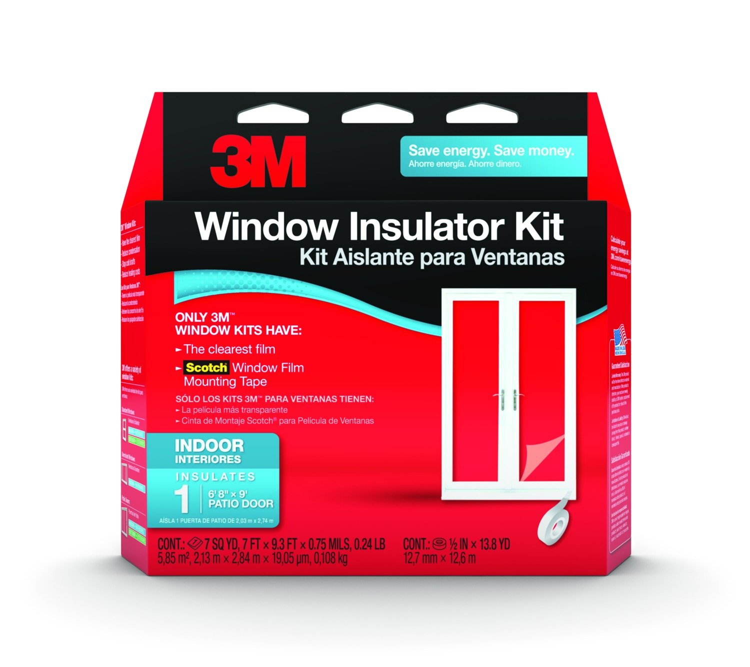 3M Indoor Patio Door Insulator Kit, 1 Patio Door   Masking Tape   Amazon.com