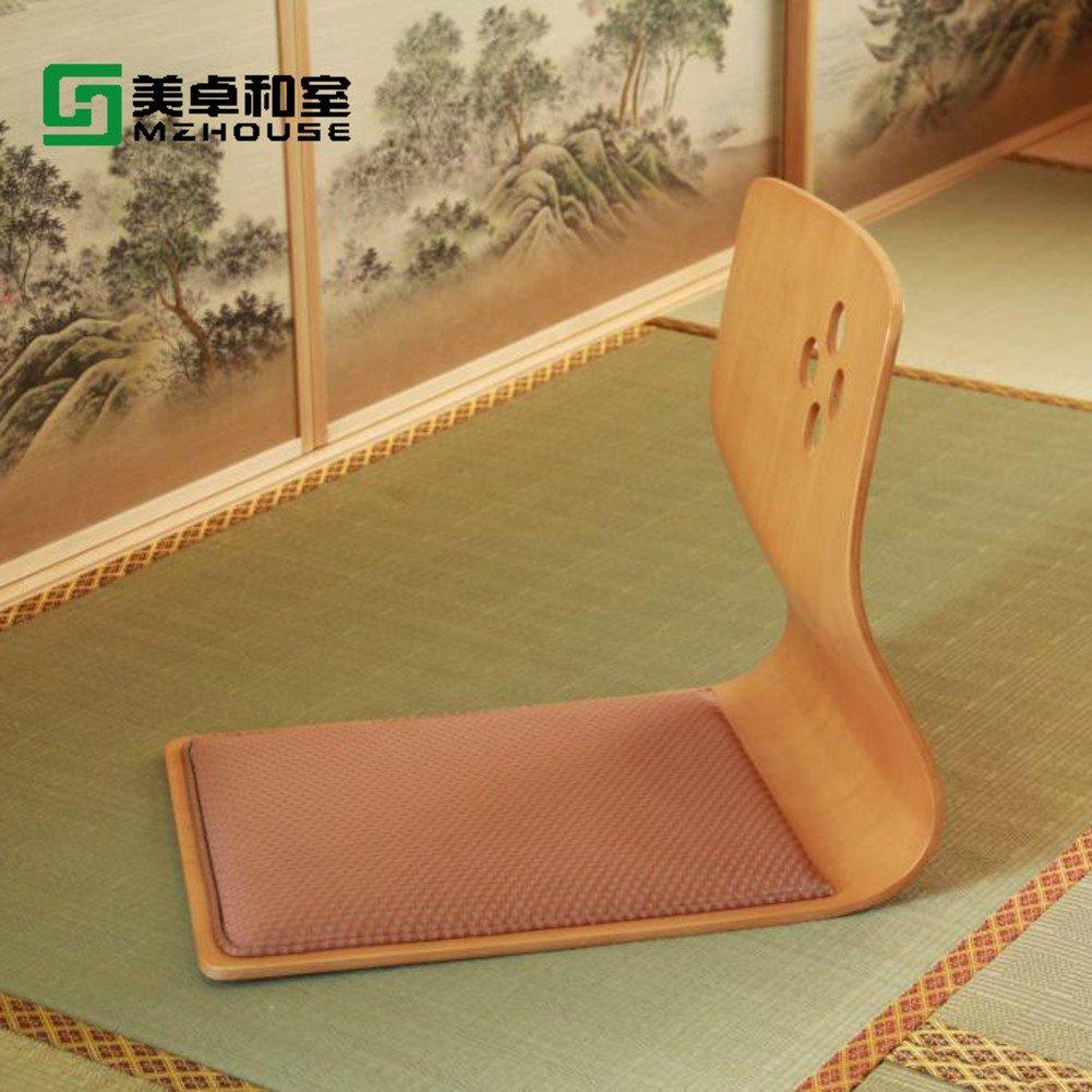 QIQ Tatami Stuhl,Fold Japanisch Stuhl Solide Holz Stuhl Bay Fenster Stuhl Bett Sessel