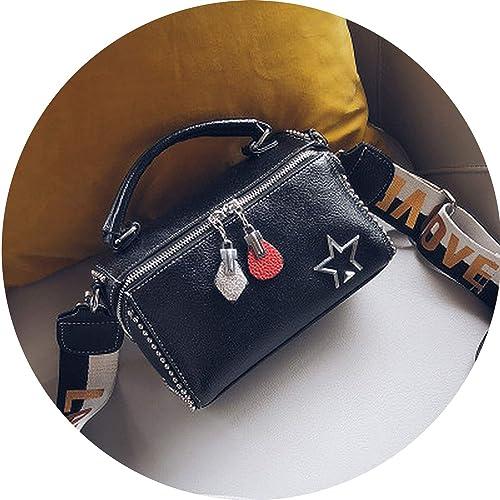 d1f0d63bd51 Amazon.com  Luxury handbags women bags designer shoulder bags Fashion  rivets Wide Strap Boston bag patchwork crossbody bags for women Totes