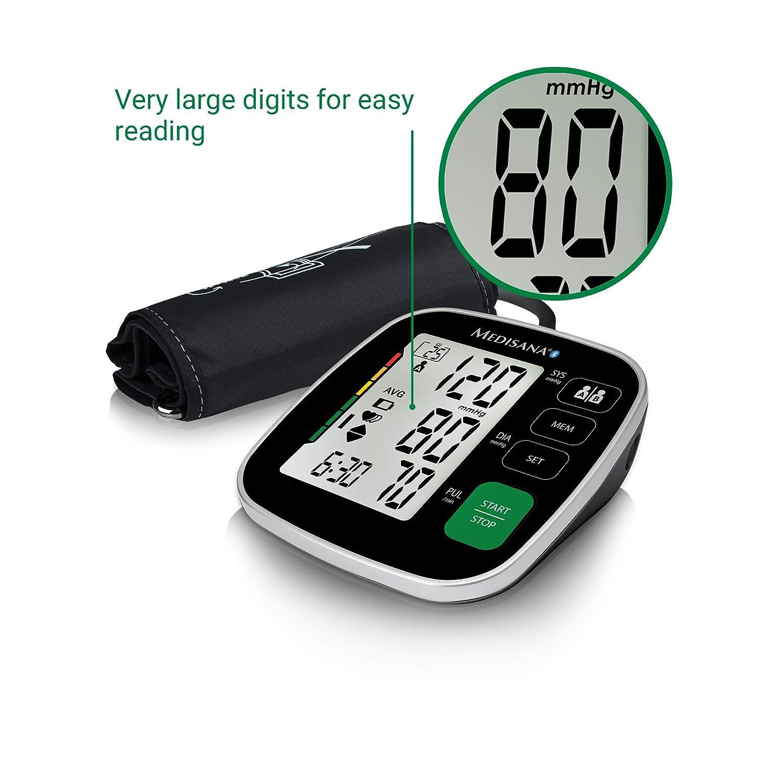 Medisana BU 546 Connect - Tensiómetro Con App, Monitor de Presión Arterial con Indicador de Arritmias: Amazon.es: Salud y cuidado personal