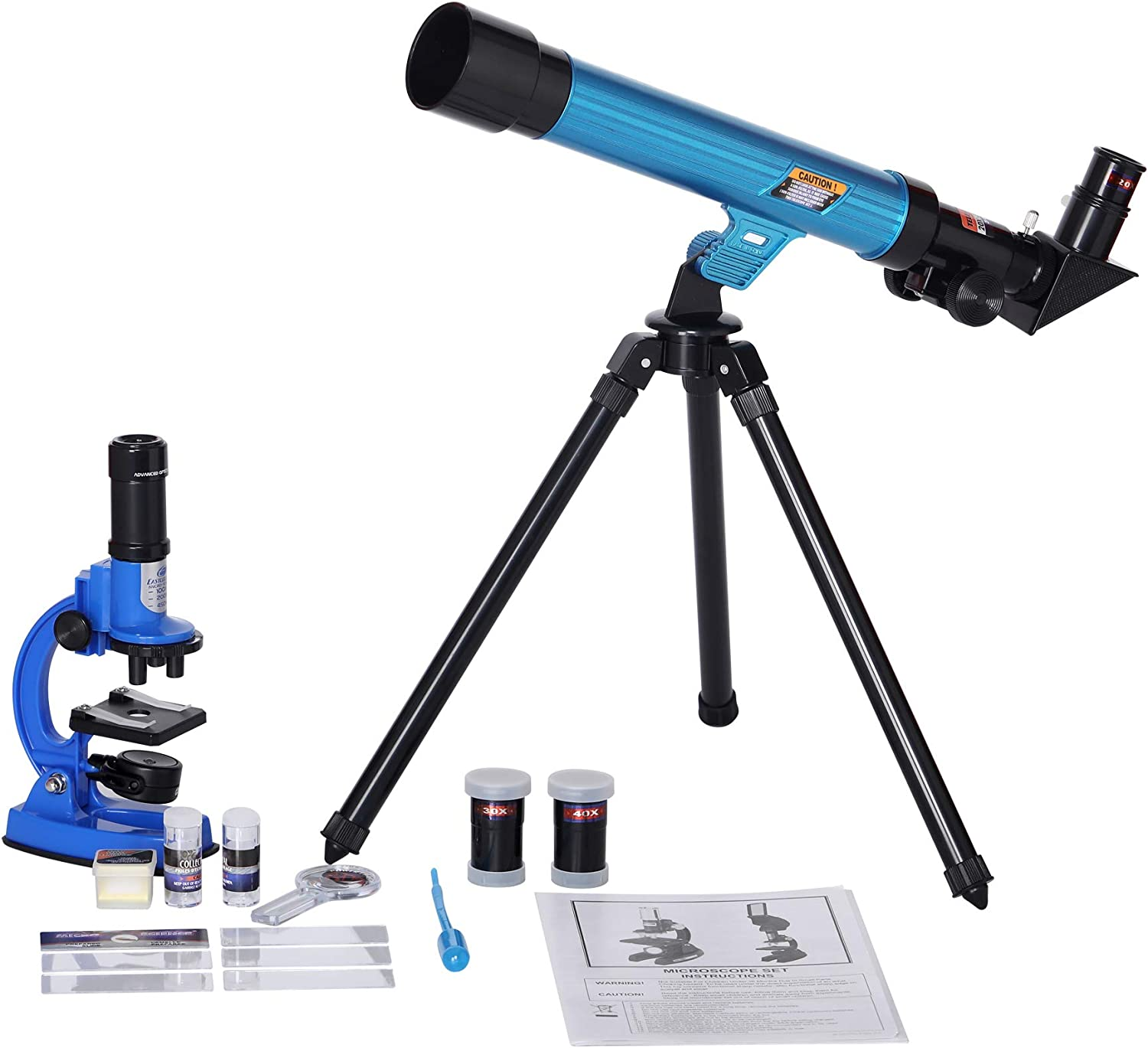 Children Students Science Educational Gifts Graduation Gift for Beginner Learning IDS Home Eastcolight 20351 Microscope and Telescope Set Toys for Kids