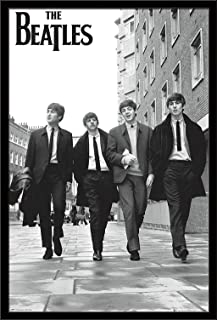 THE BEATLES IN PARIS POSTER FRAMED in Premium Black Wood Frame Size 24x36