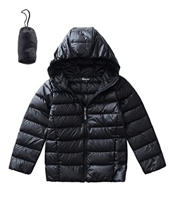523070c20 Amazon.com  Hiheart Boys Girls Hooded Down Jackets Packable Puffer ...