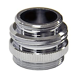 DANCO Multi-Thread Garden Hose Adapter for Male to Male and Female to Male, Chrome, 1-Pack (10513)