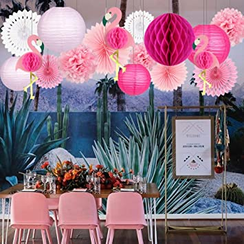 Joyplay Decoración Tropical Hawaiana,3 Rosa Flamenco Rosado ...
