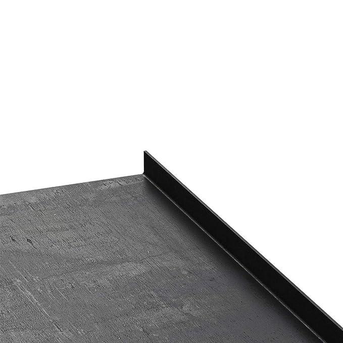 HLMW-02A-50-0000 HOLZBRINK Metall Wandregal Rohstahl mit Klarlack L-Form L/änge: 50 cm H/ängeregal Schweberegal 100x50 mm